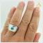 แหวนเพทายแท้ สีฟ้าเข้ม เรียบๆ แต่มีสไตล์ thumbnail 4