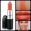 MAC Cremesheen Lipstick สี Saigon Summer 3g (ขนาดปกติ) ลิปสติกครีมชีนสีส้มสดใสออกใหม่ 2012 เนื้อสัมผัสสุดชุ่มชื่นเพิ่มลุคสวยใสให้ใบหน้าค่ะ