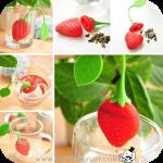 Strawberry Loose Tea Leaf ที่กรองชารูปสตรอเบอร์รี่