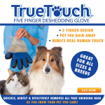 True Touch ถุงมือแปรงขนสัตว์เลี้ยง แบบนุ่มนวล
