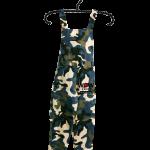 เอี๊ยมกางเกงขายาวลายทหาร ผ้าโซล่อน เอว 26 ยืดถึง 34 สะโพก 40 ยาวจากไหล่ 53