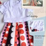 พร้อมส่ง fashion import dress เกาหลี สไตล์เซเลป งานป้ายนำเข้า สวยหรูตามแบบเป๊ะค่ะ เดรสไตล์เกาหลี ชุดต่อ เสื้อผ้ายืดเนื้อทรายสีขาวกระโปรงทรงบาร์บี้ ผ้าไหมเกาหลีลายกราฟฟิคโทนสีส้ม มีซับในอย่างดี และมีซิบข้างซ่อนข้างใน เหมือนแบบค่ะ