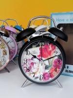 ของขวัญปีใหม่ให้ลูกค้า นาฬิกาปลุกวินเทจแบบตั้งโต๊ะ ไซส์ L สีดำ