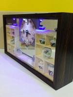 ของขวัญปีใหม่แจกลูกค้า นาฬิกาแขวนผนังแฮนด์เมด รุ่นชามตราไก่ LED