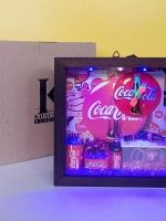 ของขวัญปีใหม่ 2016 นาฬิกาแขวนผนังตกแต่งร้านแนวๆเก๋ๆ รุ่น Coke LED 7 นิ้ว
