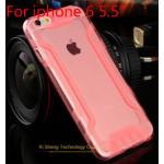 เคสไอโฟน 6plus วัสดุ TPU ใส สีชมพู