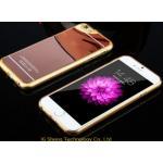 เคสไอโฟน6/6s วัสดุ TPU เคลือบโลหะด้านหลังเงา สี rose gold