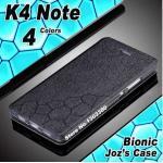 เคสเลอโนโว A7010 (k4 note) เคสพับหนังpu สีดำ