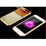 เคสไอโฟน6/6s วัสดุ TPU เคลือบโลหะด้านหลังเงา สีทอง