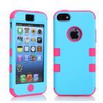 เคสไอโฟน 5c เคสซิลิโคน+พลาสติก สีสันสวยงาม แบบที่1