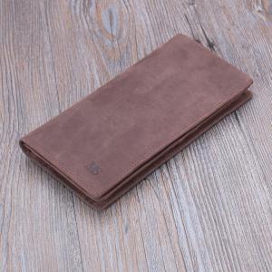 กระเป๋าสตางค์ ผู้ชาย หนังแท้ รุ่น M long MS Dark Brown