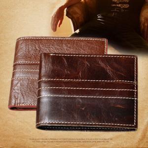 กระเป๋าสตางค์ผู้ชาย หนังวัวแท้ M Short Leather Line