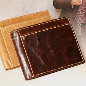 กระเป๋าสตางค์ผู้ชาย หนังวัวแท้ Short Leather Triangle