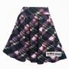 กระโปรงจีบทวิต ข้างในเป็นกางเกง ลายเดียวกัน ผ้าทอหนังไก่ เนื้อดีนิ่มมาก ทิ้งตัวสวย สีม่วง ลายสก๊อต เอว 26-36 สะโพก 38 ยาว 20 สำเนา
