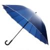 30'' 16 Ribs Big Size Walking Umbrella ร่มยาวขนาดใหญ่ต้านลมแรง16ก้าน30นิ้ว-น้ำเงิน