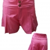 กางเกงขาสั้น ผ้าโซล่อน สีชมพู มีกระดุมหน้า เอวสม็อคหลัง เอว28-30 สะโพก42 ยาว13-14