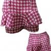 กางเกงขาสั้น ผ้าโซล่อน ลายชิโนริ สีชมพู แต่งระบายเก๋ๆ เอว26-32 สะโพก42 ยาว14-15