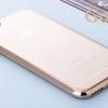 เคสไอโฟน6/6s เคสขอบซิลิโคนโดดเด่น+TPUใสด้านหลัง gold