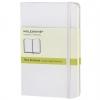 สมุด Moleskine Hard Cover มีเส้นบรรทัด ปกแข็ง สีขาว - ขนาด Pocket