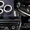 อลูมิเนียมครอบปุ่มเครื่องเสียง แอร์ BMW - สีเงิน