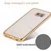 เคสซัมซุง case samsung s6 edge เคส TPU ultra thin วัสดุพรีเมี่ยม ขอบสีทอง
