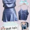 Set เสื้อสายเดี่ยวผ้าซาติน colors :Dark Grey (เทาเข้ม) +เกาะอกผ้าซาติน สามารถใส่เป็นกระโปรงเข้าชุดกันได้ เสื้อสายเดี่ยว ดีไซน์ ด้านหน้าและหลังเรียบๆ งานละเอียด ดีเทลสวย เน้นเนื้อผ้าดีมากๆค่ะ ทำจากผ้าซาตินเนื้อดี นุ่ม ลื่น พริ้วสวยค่ะ ได้ลุคสบายๆ แบบเรียบๆ
