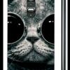 เคส LG g2 เคสพลาสติกลายแมวสวมแว่นเท่ๆ