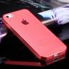 เคสไอโฟน case iphone5/5s เคสบาง tpu soft clear สีแดง