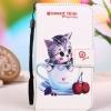 เคส lenovo k4 note (A7010) เคสหนัง pu leather เคสพับลายลูกแมวในแก้วน้ำ