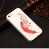 เคสไอโฟน 5/5s เคสแฟชั่นลายขนนก tpu soft case
