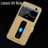 เคส lenovo k4 note (A7010) เคสหนังพับpu หน้าจอแสดงเวลาและสายรับเข้า