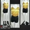 เสื้อสายเดี่ยวผ้าซาติน :Gold สีทอง เสื้อสายเดี่ยว ยอดฮิต ใส่MATCH กับกางเกง หรือ กระโปรงได้หลายแบบ ใส่ตอนไหนก็ฮอต ไม่เคยOUT ดีไซน์ด้านหน้าและหลังเรียบๆ งานละเอียด ดีเทลสวยหรู