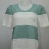 KOKO Club เสื้อลายทางแถบใหญ่สีเขียวสลับขาว