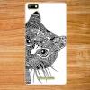 เคส wiko lenny3 เคสพลาสติกลายเส้นขาวดำรูปหน้าแมว