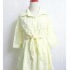 Mini dress สีเหลือง ลายสก๊อต แขน5ส่วน ดีไซน์เก๋ด้วย ตัวเสื้อทรงเชิ๊ตและสามารถผูกโบว์จั๊มตรงเอวเก๋ๆ ต่อด้วยกระโปรงสม็อครอบเอว มีซับ น่ารักมาก อก36 เอว38 สะโพกฟรี ยาว31