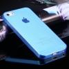 เคสไอโฟน case iphone5/5s เคสบาง tpu soft clear สีฟ้า