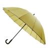 30'' 16 Ribs Big Size Walking Umbrella ร่มยาวขนาดใหญ่ต้านลมแรง16ก้าน30นิ้ว-สีเหลือง