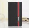 เคสซัมซุง s7 เคสหนัง leather synthetic สีดำแถบแดง