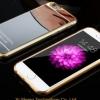 เคสไอโฟน6/6s วัสดุ TPU เคลือบโลหะด้านหลังเงา สีเงิน