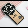 เคส oppo f1 plus/r9 เคสซิลิโคนดอกไม้สีดำ