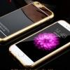 เคสไอโฟน6/6s วัสดุ TPU เคลือบโลหะด้านหลังเงา สีดำ