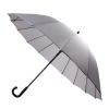 30'' 16 Ribs Big Size Walking Umbrella ร่มยาวขนาดใหญ่ต้านลมแรง16ก้าน30นิ้ว - เทา