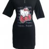 ลดราคาต่ำกว่าทุน 1-12 มิถุนายน เสื้อผ้าแฟชั่นราคาถูกขายส่ง Mini dress สกรีนลายคิตตี้ ผ้าคอทต้อนสีดำ แต่งซิบที่คอ งานน่ารักราคาเบาๆค่ะ อก-เอว32 สะโพก38 ยาว30