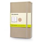 สมุดโน้ต Moleskine Soft Cover ไม่มีเส้นบรรทัด ปกอ่อน สีเทา ขนาด Pocket