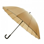 30'' 16 Ribs Big Size Walking Umbrella ร่มยาวขนาดใหญ่ต้านลมแรง16ก้าน30นิ้ว-ครีม