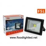 LED Floodlight 20w FSL แสงวอร์มไวท์ (แสงสีส้ม)