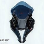 หน้ากากแต่งทรงZX motoZaaa สีดำ สำหรับ ninja250 ninja300