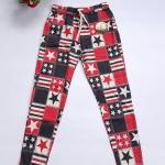 กางเกงขายาวผ้าซันเวฟ เอวผูก ผ้ายืดหยุ่นได้ค่ะ เอว26-34 สะโพก38-42 ยาว35 ต้นขา20 ปลายขา10