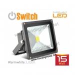 LED Flood Light 15w SWITCH แสงวอร์มไวท์ (แสงสีส้ม)