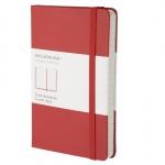 สมุด Moleskine Hard Cover มีเส้นบรรทัด ปกแข็ง สีแดง ขนาด Pocket